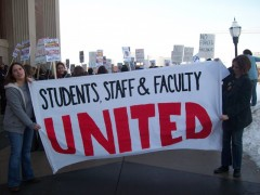March 4 protest for education rights at the University of Minnesota