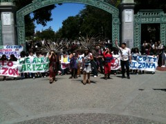 Berkeley students protest new racist anti-immigrant law in Arizona