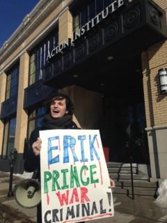 Protests against Blackwater founder Erik Prince