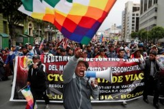 Huge mobilizations reject coup in Bolivia.