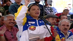 Migdelys Campos, a representative of a worker council that now runs a pharmaceut