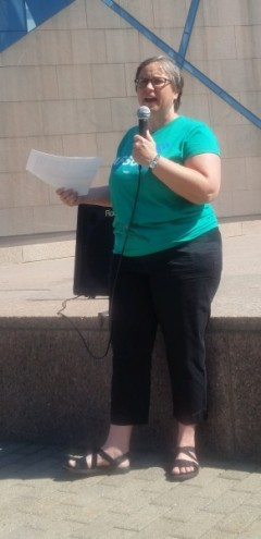 Cherrene Horazuk, president of the Minnesota's AFSCME Local 3800.