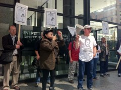 Chicago protest in solidarity with Carlos Montes