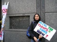 Anti-war protester