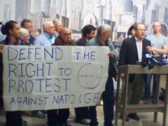 Joe Iosbaker demands right to march on the G8/NATO Summit at news conference