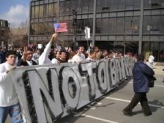 March 10, 2006 huelga general por los derechos de los inmigrantes en Chicago