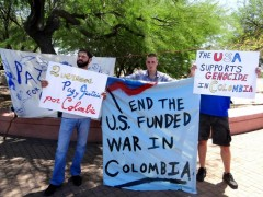 Tuscon protest against joint U.S./Colombia military exercise in Arizona