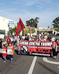 May Day march in LA.