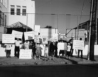 Manifestación para las escuelas limpias y la justicia educacional