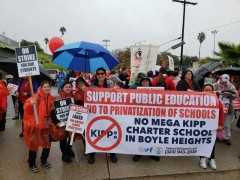 Day 3 of the LA teacher strike