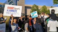 Minneapolis protest against deportation of Cambodian refugees.