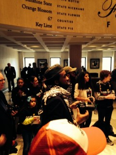 Dream Defenders protest in Florida Capitol building