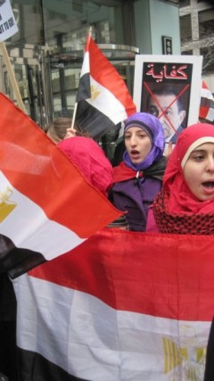 Chicago protest in solidarity with people of Egypt