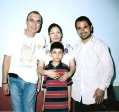 Carlos Montes on left along with Elvira Arellano and her son Saul