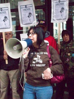 Emma Lozano of Sin Fronteras demands charges against Carlos Montes be dropped