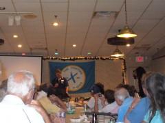 President Jim Guyette speaking on the 25th anniversary of Hormel Strike.