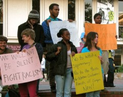 Students Protest Virgil Goode and Youth for Western Civilization
