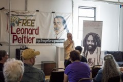 New York activists demand freedom for Leonard Peltier.