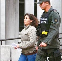 Liliany Obando detained by Colombian police