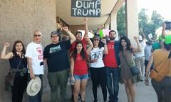 Anti-Trump protesters in Tucson, AZ.
