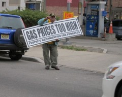 Newark protest against high gas prices
