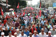 Gaza march marks anniversary of the assassination PFLP leader Abu Ali Mustafa.