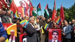 Palestinians in Gaza stand in solidarity with Venezuela.