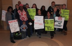 Members and supporters of Welfare Rights Committee following Senate hearing