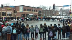 Minneapolis high school students protest ICE raids and deportations