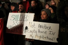 Rally at start of occupation of Bobby Hull's home, Dec. 6, 2011