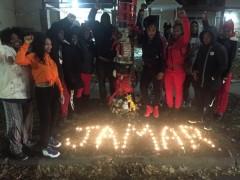 Memorial vigil for Jamar Clark.