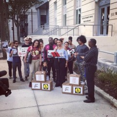 Press conference in front of State Attorney Melissa Nelson's office