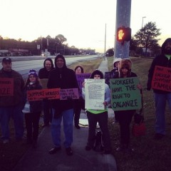Jacksonville picket at Walmart on Black Friday