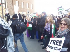 Protest against Israel's war on Gaza at U of MN, November 16