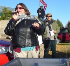 Jess Sundin of the Committee to Stop FBI Repression.