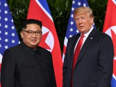 Chairman Kim Jong Un with Donald Trump.