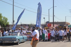 Teamsters Local 848 lines up to march through Wilmington on Labor Day.