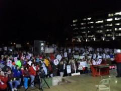 Feb. 16 rally in LaCrosse's Riverside Park.