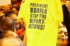 Milwaukee community members disrupt Obama's speech.
