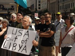 Milwaukee protest demands end to U.S. / NATO war on Libya