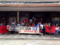 Tampa May Day protest in front of ICE office
