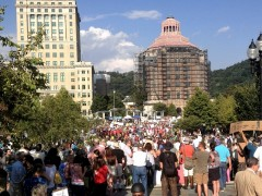 Mountain Moral Monday protest in Ashville.
