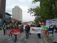 Freedom Road Socialist Organization in Salt Lake City march against Monsanto.