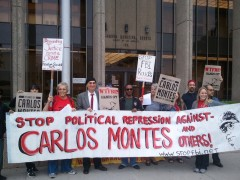 June 16 protest in solidarity with Carlos Montes