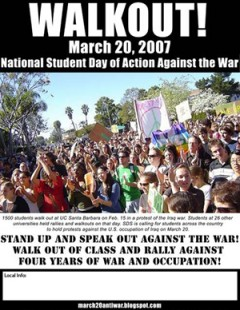 flyer calling for student walk out