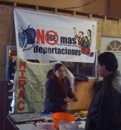 No More Deportations campaign community outreach