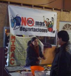 No More Deportations campaign community outreach