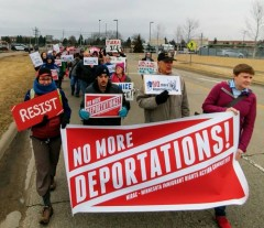 Minnesota protest demands 'No more deportations.'