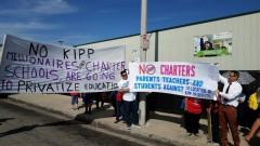 LA protest against privatization of public education.