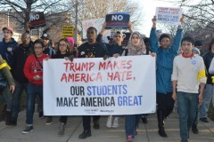 Chicago students march on Trump.